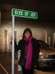 Blvd of Joy Sign
