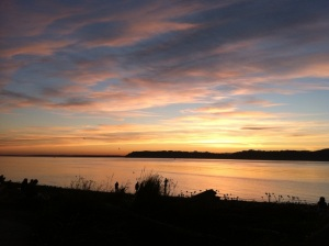 Sunset at Mukilteo Beach