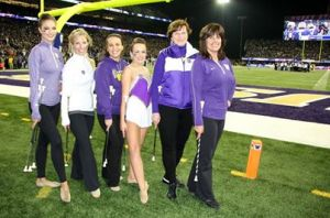 Former UW feature twirlers - from the 1960s to present day! Photo courtesy of Louis Figueroa.
