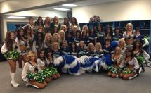 The #83SeaGals at their 30-Year Reunion with the 2013 Sea Gals in their locker room 11-3-13.