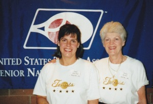 Sheri Leonard and Joyce Jones at US Sr Nationals