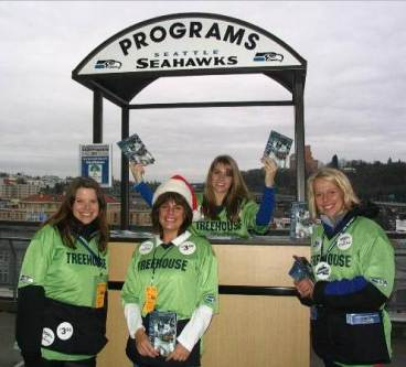 Treehouse Program Sales at Seahawks Game