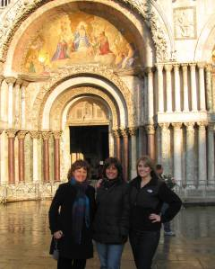 Sandi, Me and Kristi in Piazza San Marco